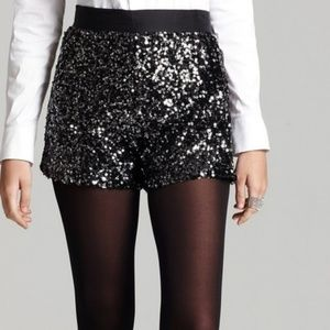 NWT French Connection | Lucinda Black Sequin Short